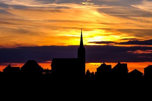 Abendglühen in Schwellbrunn. (Bild: Luciano Pau)