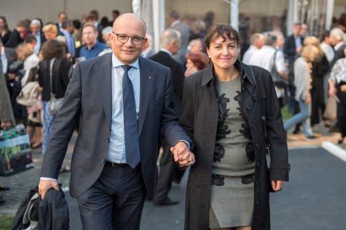 CVP-Nationalrat und Olma-Direktor Nicolo Paganini mit seiner Frau. (Bild: Urs Bucher)