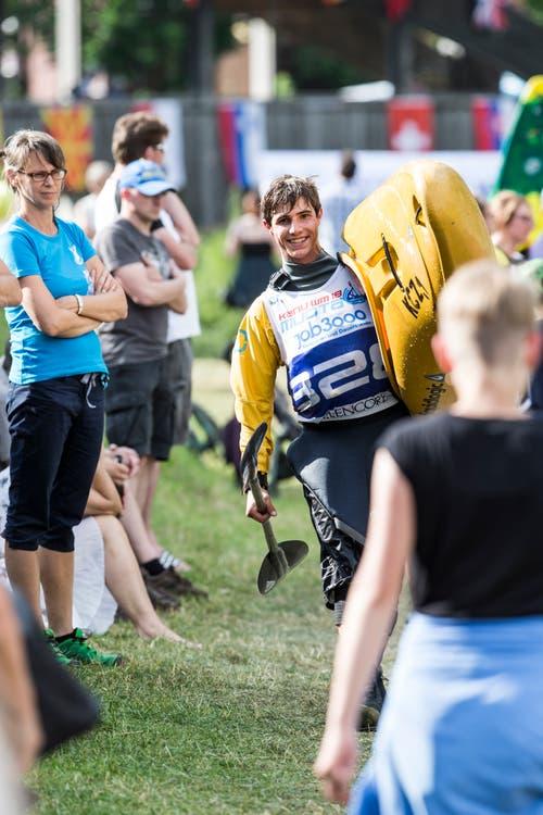 Philipp Tandler freut sich. (Bild: Manuela Jans-Koch, Muotathal, 2. Juni 2018)