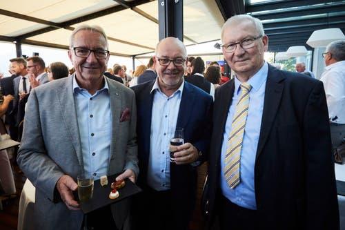 Regierungsrat Robert Küng, Fritz Erni und Karl Eugster (Verwaltungsratspräsident Montana).