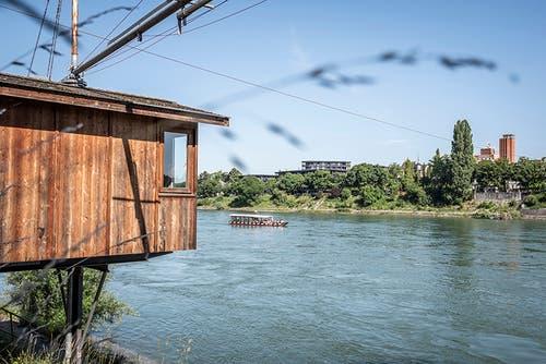 Basel: Hier kann man im alten Fischergalgen am Rheinufer übernachten.