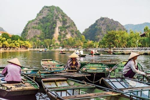 Auf dem Mekong mit seinen zahlreichen Flussläufen kommt man mit dem Boot am besten von A nach B. (Bild: Bilder: Aaron Joel Santos/Vietnam Tourism Board)