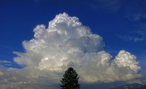 Gewitterwolken in Montlingen (Bild: Toni Sieber)