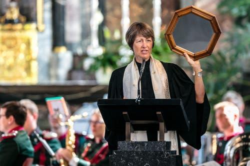 Pfarrerin Marie-Luise Blum aus Hochdorf hielt die Festpredigt. (Bild: Philipp Schmidli, 1. Juli 2018)