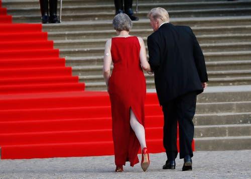 Premierministerin Theresa May und US-Präsident Donald Trump. (Bild: Pablo Martinez Monsivais)