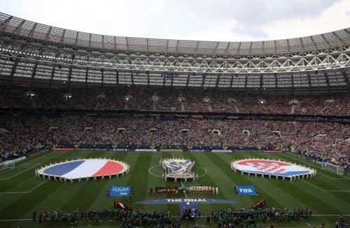 Blick ins Luschniki-Stadion von Moskau (Bild: Thanassis Stavrakis / AP)