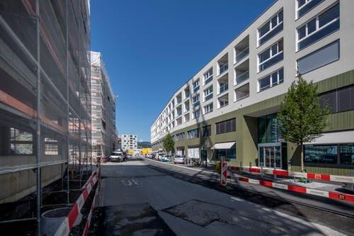 Aussenansicht des neuen Gebäudes. Bild: Pius Amrein (Malters, 16. Juli 2018)
