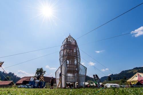 Die Rakete ist startklar. (Bild: Eveline Beerkircher (Escholzmatt, 19. Juli 2018))