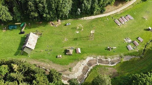 Das Lager der Pfadi Isenringen Beckenried. (Lagerbild)