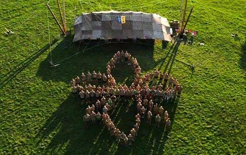 Eindrückliches Gruppenfoto der Pfadi Baar. (Lagerbild)