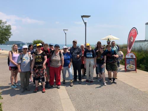 Die Lagerteilnehmer von Insieme Cerebral Zug nach dem Besuch des Sea Lifes in Konstanz. (Lagerbild: Jan Habegger, 24. Juli 2018)