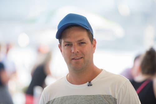 Claudio Hufschmid aus Eschenbach: «Das Gesamtpaket ist mein Highlight des Blue Balls: Der See, die Bühnen und die vielen No Name-Bands, die durch das Festival eine Chance erhalten.»