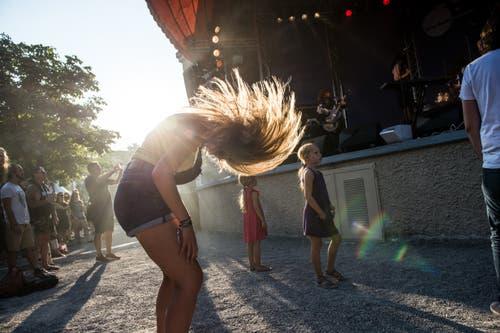 Sie geht am Blue Balls ab. Bild: Dominik Wunderli (Luzern, 24. Juli 2018)
