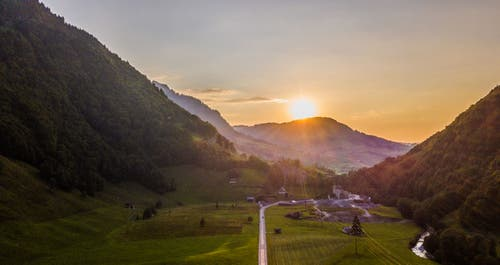 Abendlicher Blick Richtung Stein SG. (Bild: Renato Maciariello)