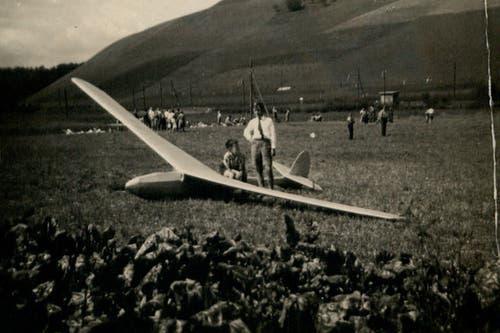 Die Anfangszeit der Modellfluggruppe in den 50er Jahren. (Bild: PD)