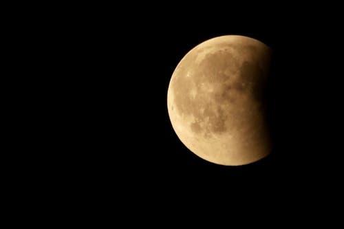 Die Mondfinsternis, aufgenommen in Hildisrieden. (Leserbild: Xaver Husmann)