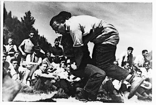 Vier Brünig-Titel: Peter Vogt (verdeckt von Heiri Oswald). (Bild: PD)