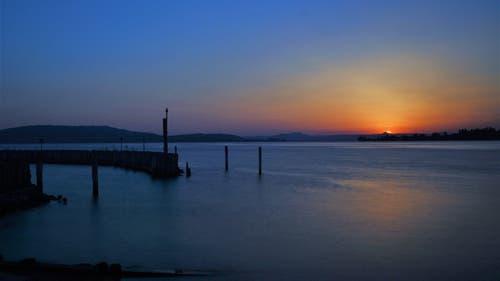 Zur Blauen Stunde in Ermatingen am See. (Bild: Markus Spies)