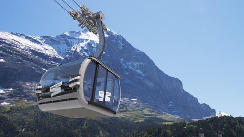 Gondelbahn von Grindelwald zum Eigergletscher (Visualisierung: PD)