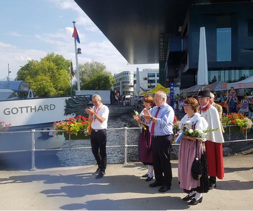 Johann Schneider-Ammann läutet am Dienstag mit seiner Rede vor dem KKL den 1. August ein. (Bild: Simon Mathis/LZ)