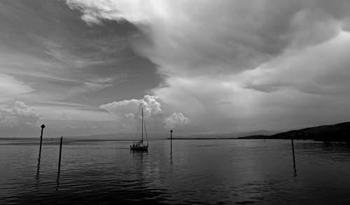 """""""Gewitterflaute"""" auf dem Bodensee bei Steinach. (Bild: Walter Schmidt)"""