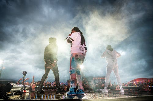 Migos am Open Air Frauenfeld. (Bild: Andrea Stalder)