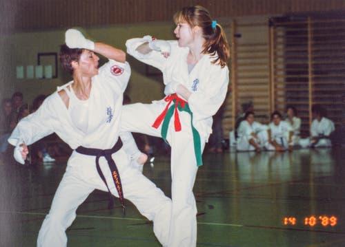Edith Eigenmann (links), Blackys Schülerin, holte 1989 den Schweizermeistertitel nach St.Gallen. (Bild: Michel Canonica/Privatarchiv Beat Cina)