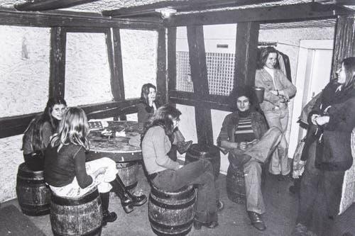 Szene im Jugendhaus, ca. 1969. (Bild: Michel Canonica/Privatarchiv Beat Cina)
