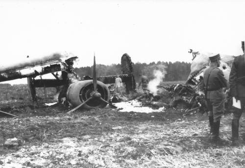 Die Motoren, die mit speziellen Turboladern für den Flug in grosser Höhe ausgestattet waren, wurden später von der Schweizer Fliegertruppe in Dübendorf eingehend untersucht. (Bild: Warbird.ch)