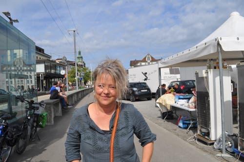 Die Händlerin Miriam Gross aus Schwarzenbach.