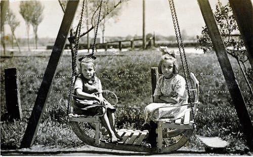 Die Schifflischaukel beim Restaurant war einst bei den Kindern beliebt.