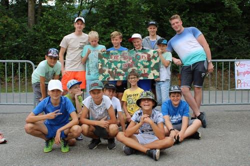 Die «Spione und ihre Brüder» im Pfarreilager Neuenkirch, das dieses Jahr in Schüpfheim stattfindet. (Bild: Fabienne Niederberger)