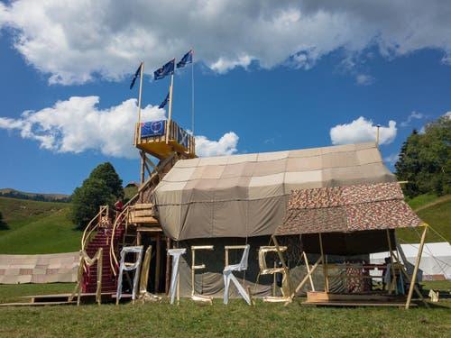 So hat die Behausung der Pfadi Malters in Escholzmatt ausgesehen. (Bild: Martin Lustenberger)
