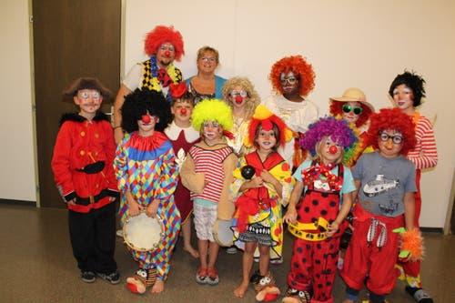 Im Lager des Christlichen Zentrums Zollhaus Luzern in Sörenberg haben sich die Clowns eingefunden. (Bild: Eleny Scheidegger)