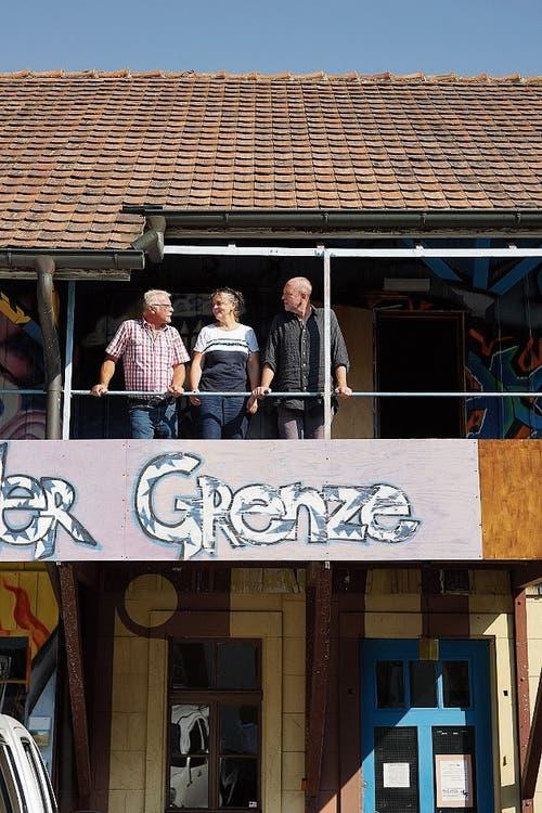 Fritz Brechbühl, Birgit Auwärter, Lukas Huggenberg. (Bild: DL)