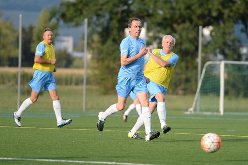 Manchmal spielen die Zuger gegen andere Mannschaften. (Bild: Maria Schmid (Zug, 22. August 2018))