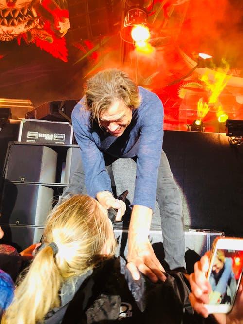 Campino am Konzert ganz nah. (Bild: Linda Rohde, Allmend, 25. August 2018)