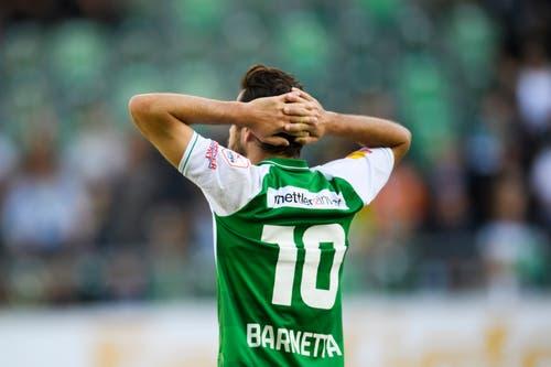 Der St. Galler Tranquillo Barnetta nach dem Spiel. (Bild: Keystone/Gian Ehrenzeller)