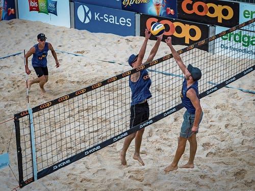Hielt mit gutem Beachvolleyball lange mit: Das Grabser U21-Team Luca Feurer und Nino Gabathuler. (Bild: Bilder: PD)