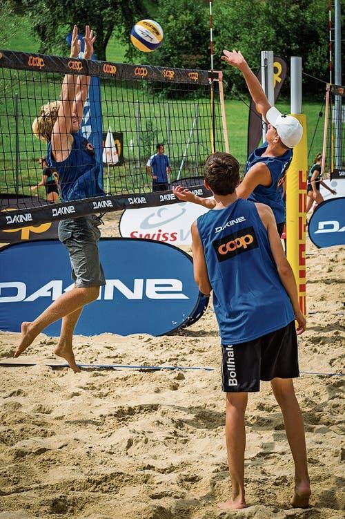 Zeigte in Rorschach durchwegs gutes Beachvolleyball: Das Grabser U17-Team Ramon Bollhalder und Jonas Peter.
