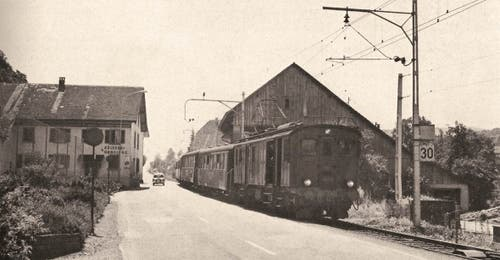 Seethalbahn bei Hallwil im Jahre 1965...