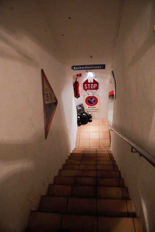 Ein Blick in den Keller der «Concordia». (Bilder: Donato Caspari)