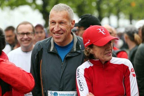 Im April 2013 startet Ständerat Konrad Graber beim Solidaritätslauf am Luzerner Stadtlauf.