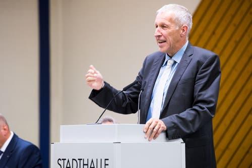 Am Mittwoch, 29. August 2018 gibt Konrad Graber an der CVP-Delegiertenversammlung in Sursee seinen Rückzug aus der Politik bekannt. (Bild: Eveline Beerkircher)