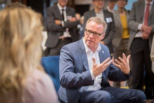 SBB-Chef Andreas Meyer im Talk. (Bild: Urs Bucher)