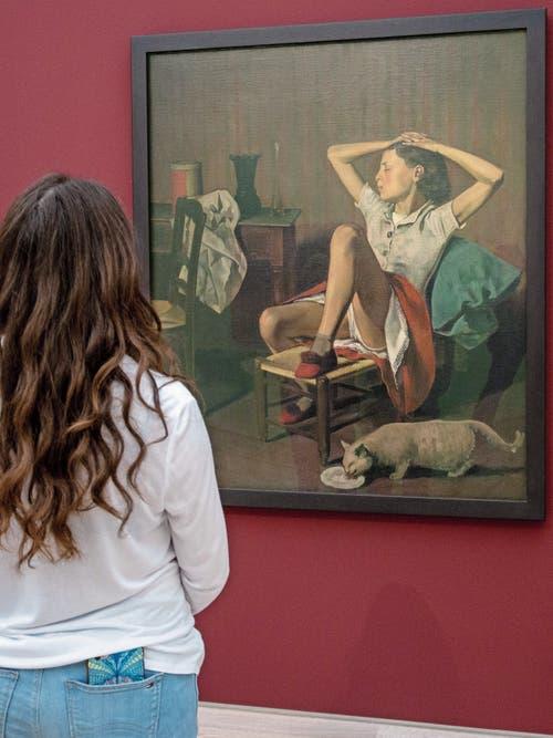 In New York sollte das Bild «Thérèse rêvant» von Balthus mit einem Warnhinweis versehen werden. In der Fondation Beyeler in Riehen gibt es keine Vorsichtsmassregel. (Bild: Patrick Straub)