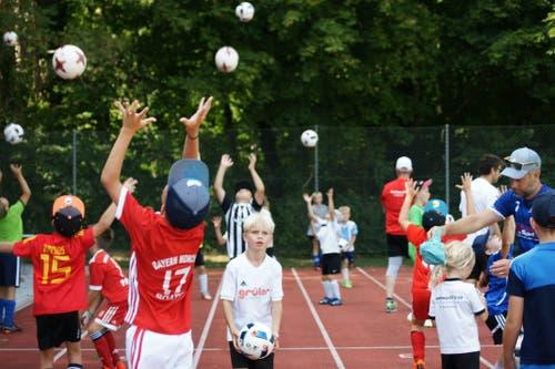 Trainingseinheiten im Lager des FC Buttisholz in Bad Ragaz. (Bild: Sonja Niederberger)