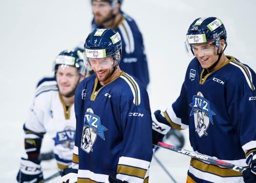 Sie haben gut lachen: David McIntyre (links) und Reto Suri. (Bild: Stefan Kaiser (Zug, 07. August 2018))