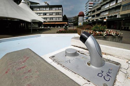 In Steinhausen wurden die Brunnen abgestellt. (Bild: Stefan Kaiser (7. August 2018))