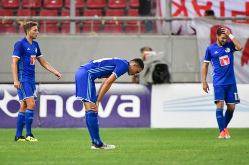 Die Enttäuschung ist nach der verdienten 0:4 Niederlage gegen Olympiakos Piräus gross. (Bild: Martin Meienberger, Piräus, 9. August 2018)